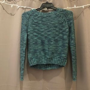 pretty turquoise sparkly sweater